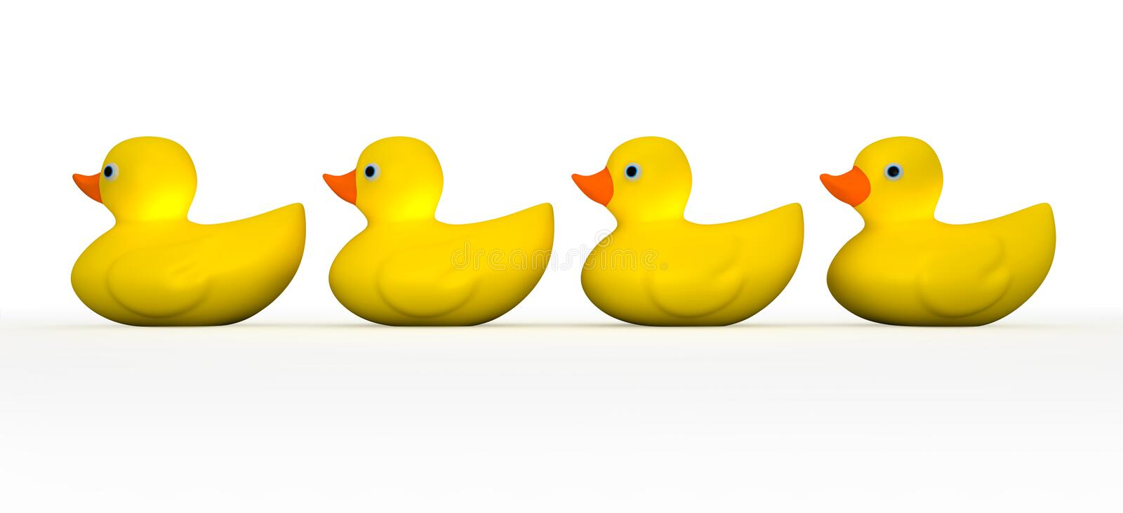Download Get All Your Rubber Ducks In A Row Stock Illustration - Illustration: 27051180