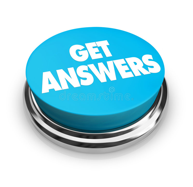 Get Answers Button royalty free illustration