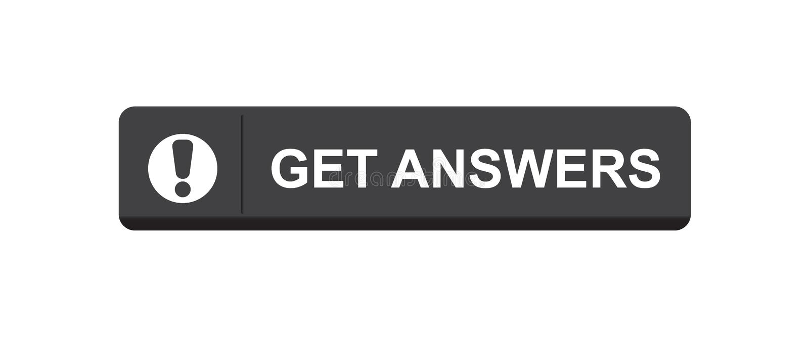 Get answers royalty free illustration