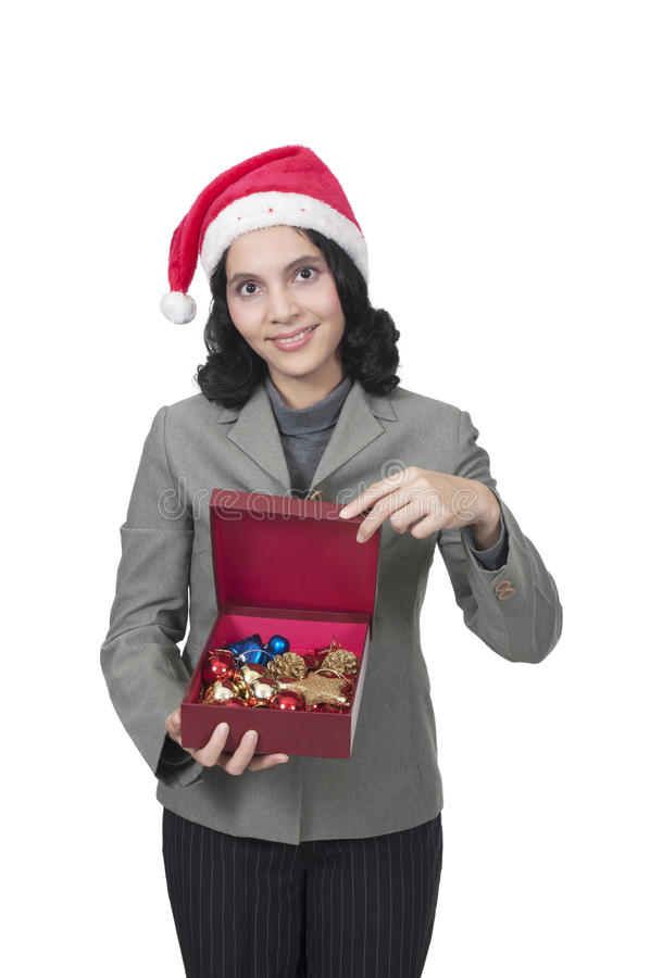 Download Get Christmas Present stock photo. Image of holding, santa - 25084872