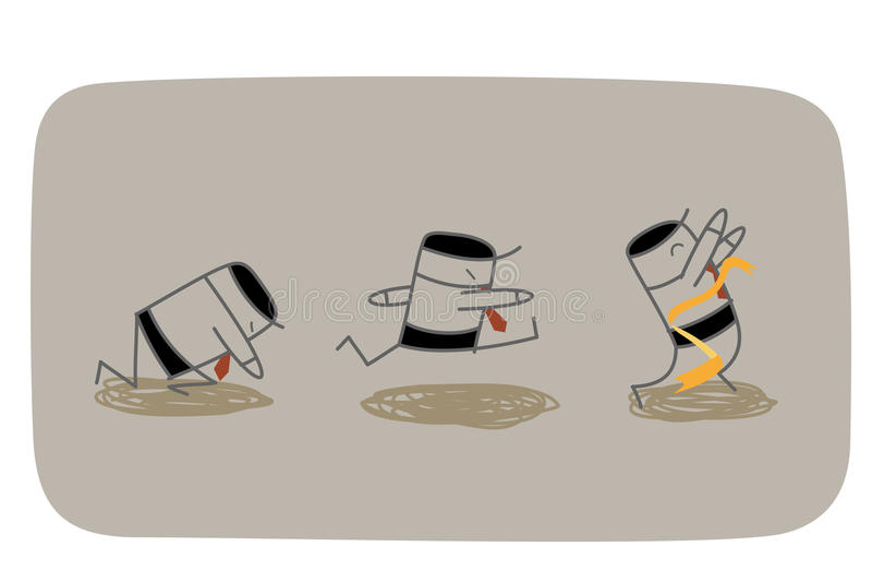Get comenzó ilustración del vector