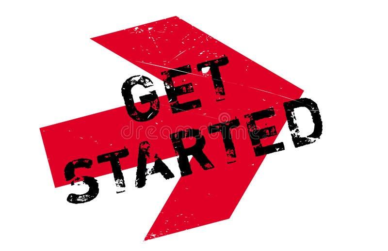 Get a commencé le timbre illustration libre de droits