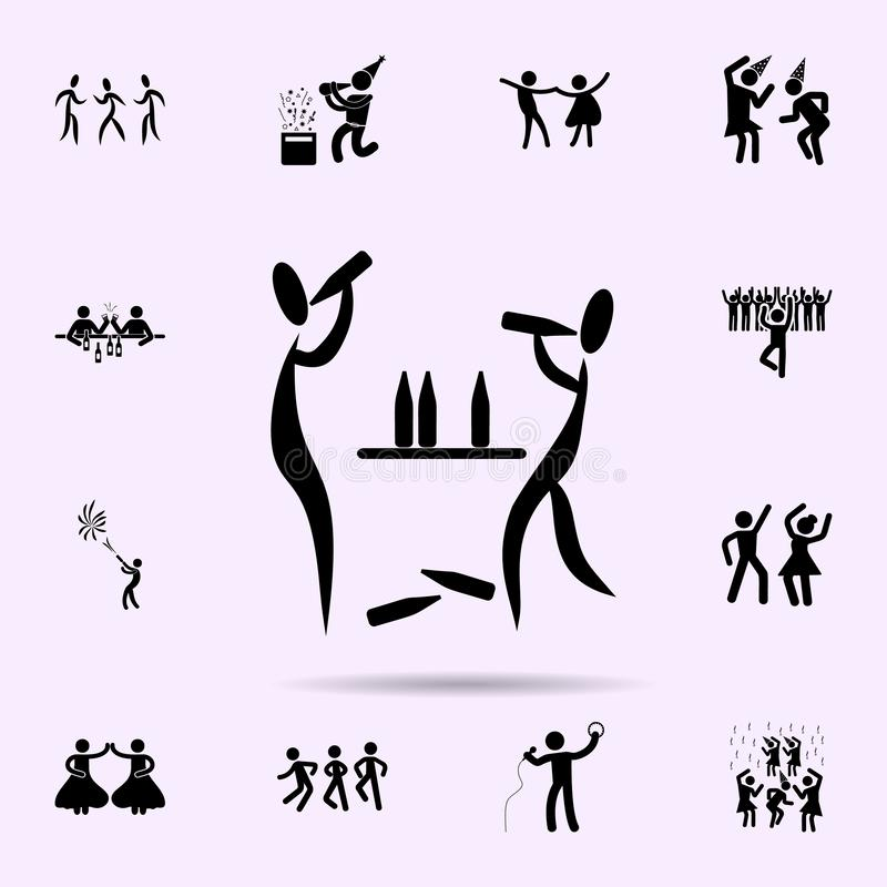 Get drunk at party icon. Party icons universal set for web and mobile. On color background royalty free stock images