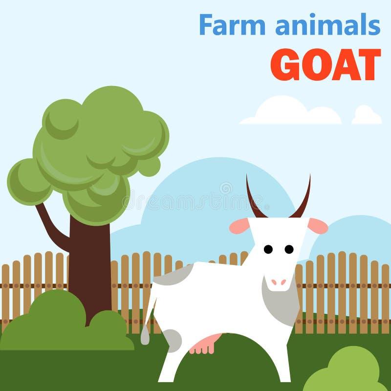 Get för lantgårddjur stock illustrationer