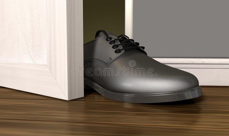 Get A Foot In THe Door Stock Photos