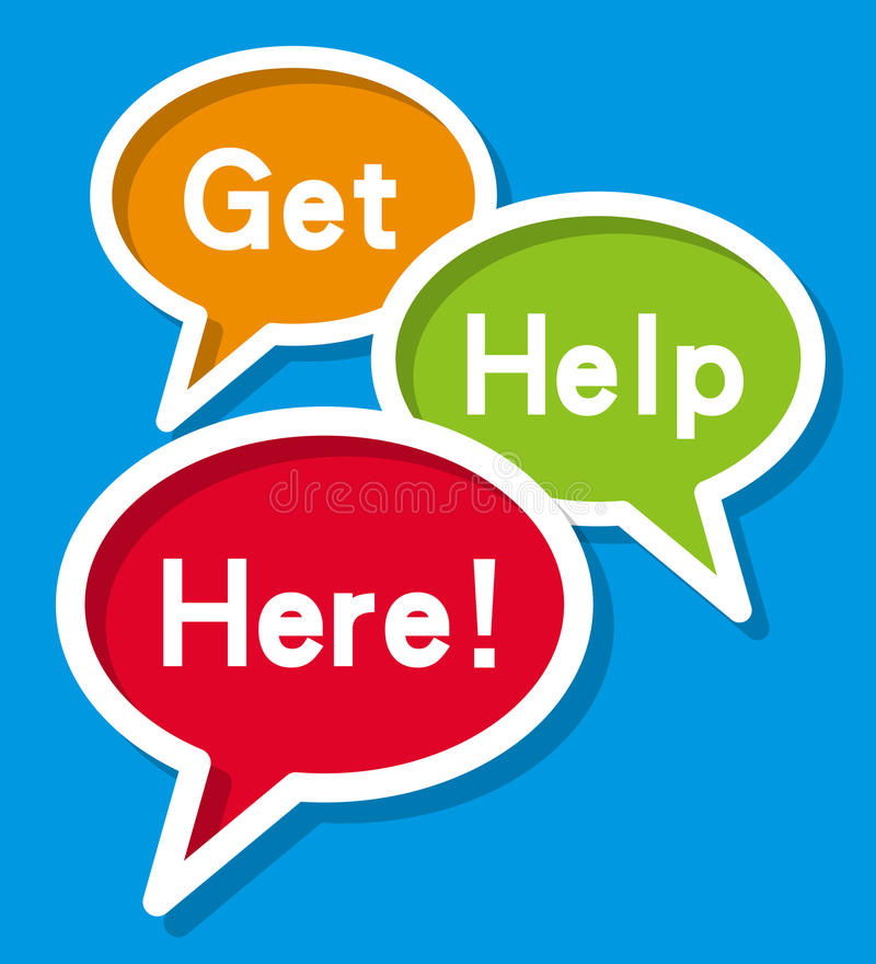 Get Help Here royalty free illustration
