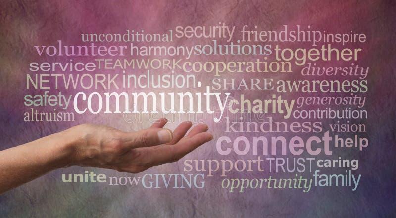 Get a impliqué de votre nuage de tags de Word de la Communauté image libre de droits