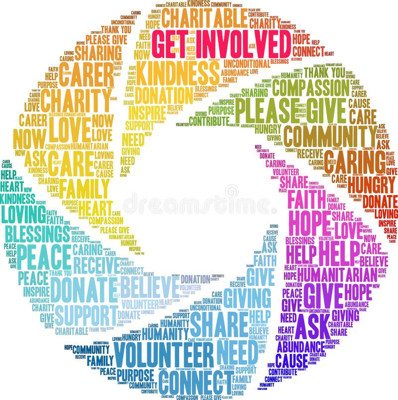 Get Involved Word Cloud. royalty free illustration