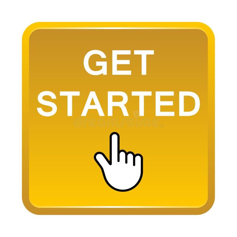 Get ligou o botão ilustração royalty free