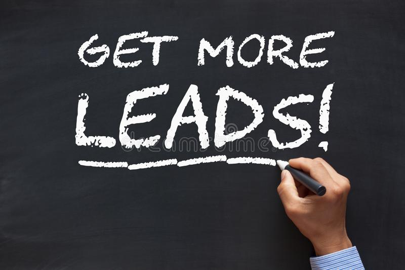 Get More Leads royalty free stock image