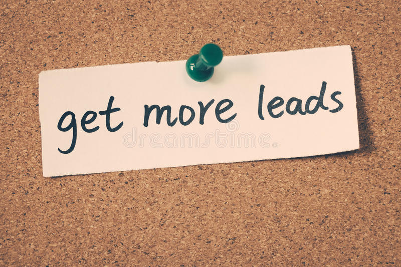 Get more leads royalty free stock photo
