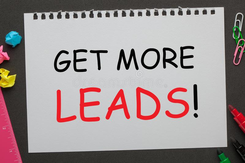 Get More Leads Concept royalty free stock photo
