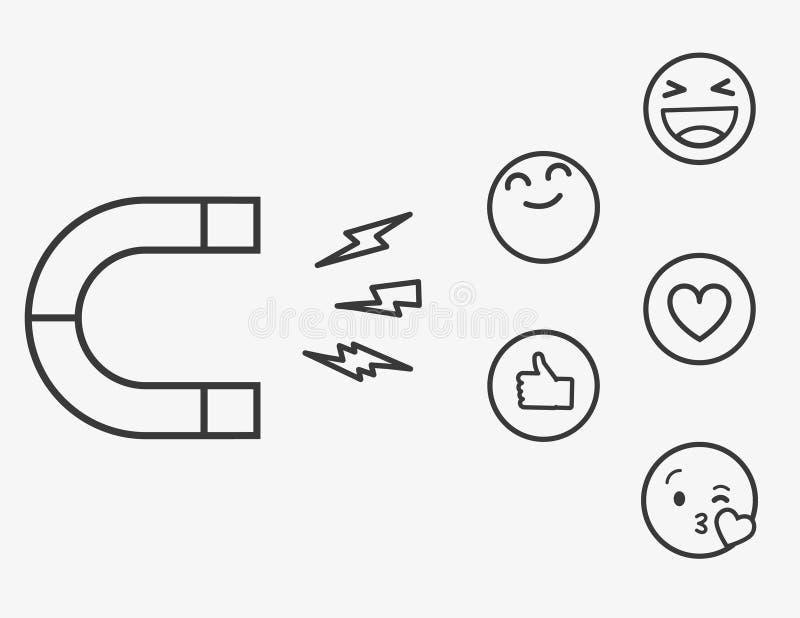 Get More Likes Concept. Modern Outline design concept of web page design for website and mobile website.Vector illustration stock illustration