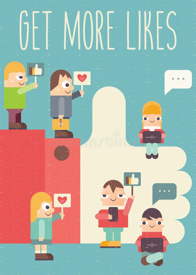 Get More Likes royalty free illustration