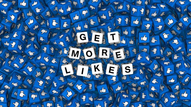Get More Likes. Social media like and heart icon vector illustration
