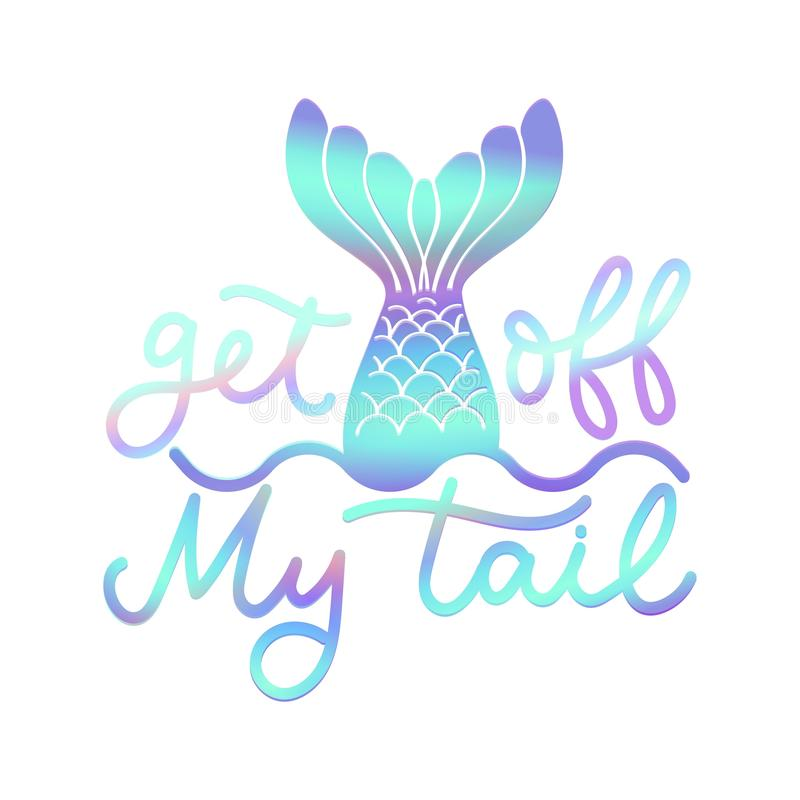 Get off my tail poster stock illustration