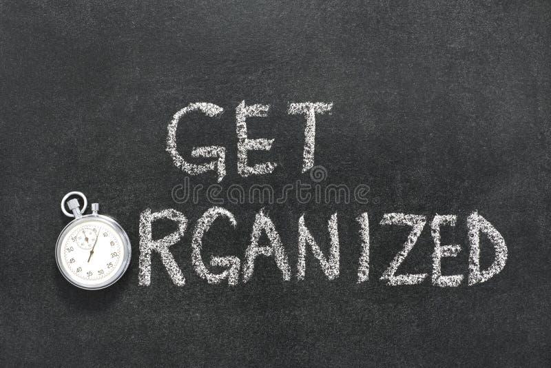 Get organisierte Uhr stockfoto