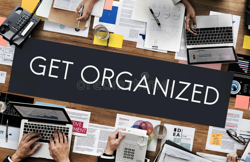 Get Organized Management Planning Concept royalty free stock photography