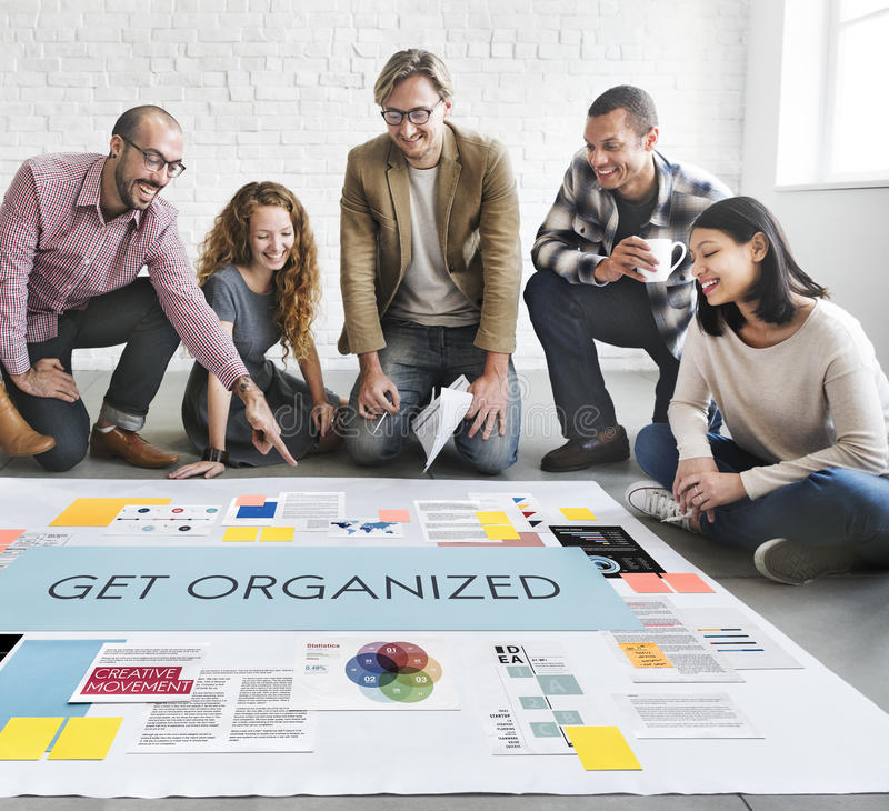 Get Organized Management Planning Concept.  stock photography