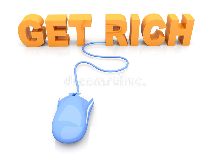 Download Get Rich stock illustration. Illustration of business - 26849821