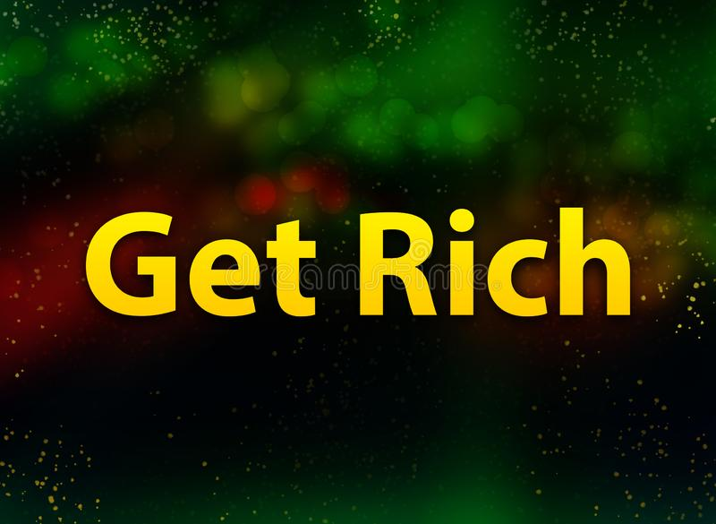 Get Rich abstract bokeh dark background vector illustration
