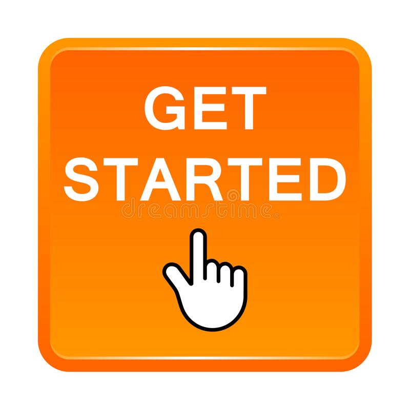 Free Get Started Button Stock Photo - 119976410
