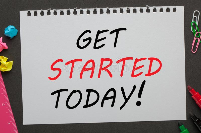Get Started Today stock photos