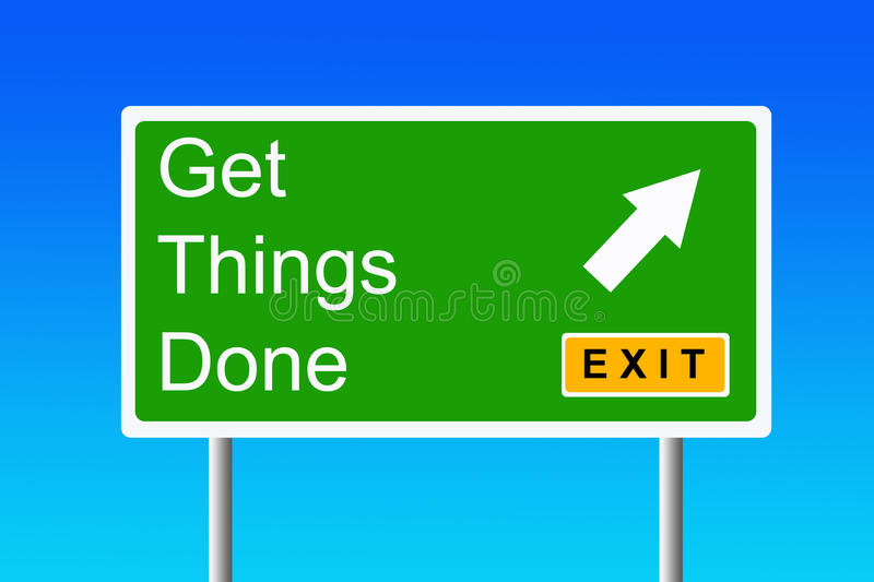 Get things done royalty free illustration