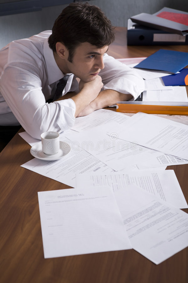 Download Get Tired With Hard Working Stock Photo - Image: 2128524
