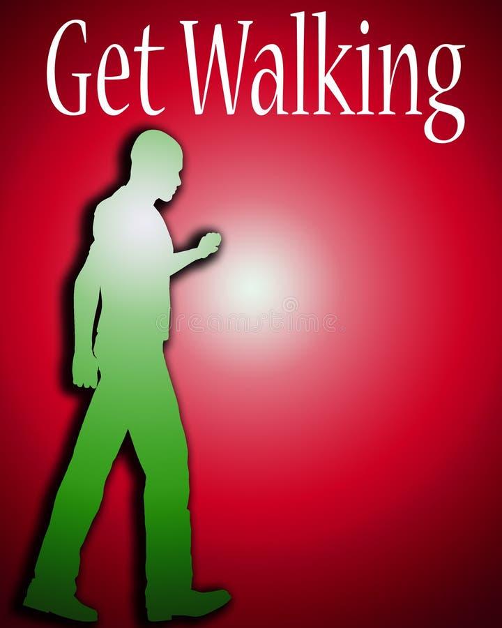 Download Get Walking stock illustration. Illustration of exercising - 4515737