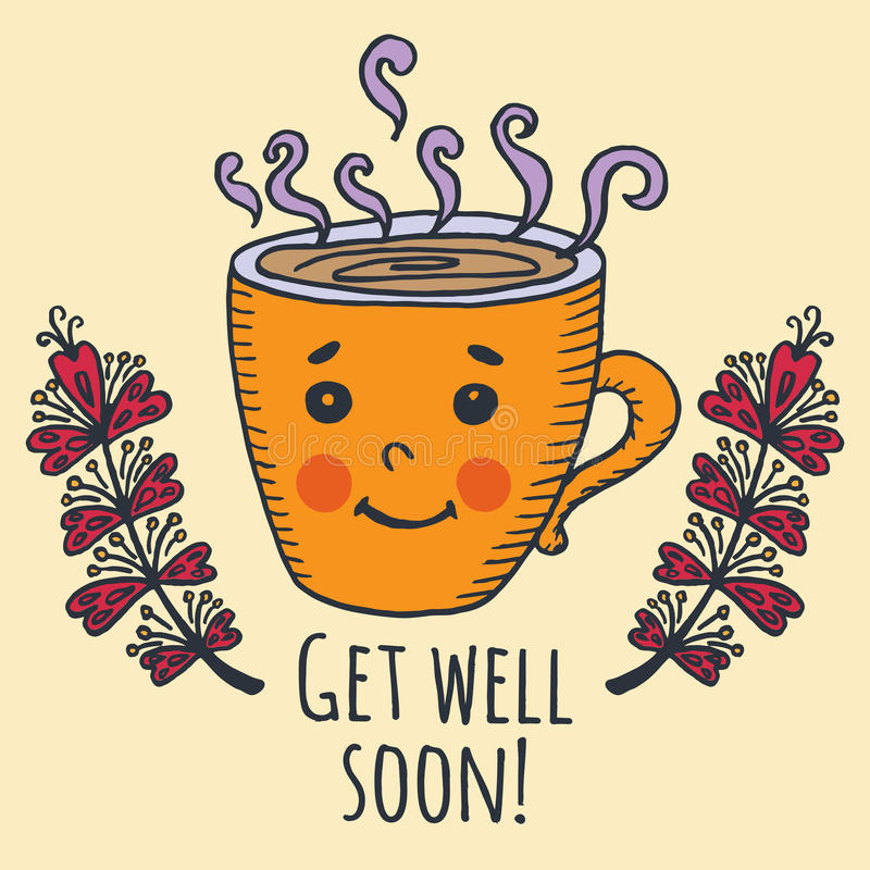 Get Well Soon Card With Teddy Bear And Jam Stock Illustration Illustration Of Cute Motivational 79083506