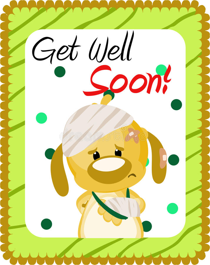 Get well soon greeting stock illustration. Image of ...