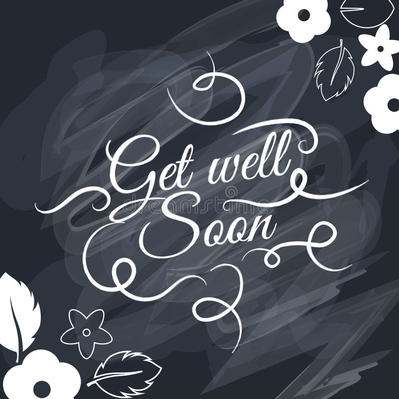 Get well soon Vector text background, creative color pattern. royalty free illustration