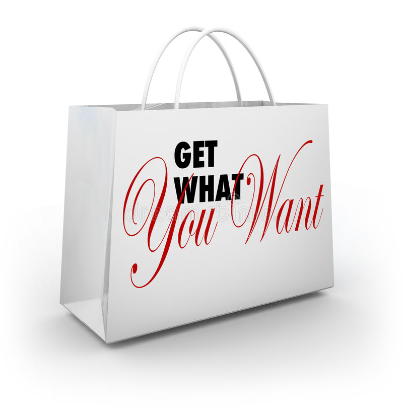 Free Get What You Want Shopping Bag Shopping Store Stock Photo - 38908710