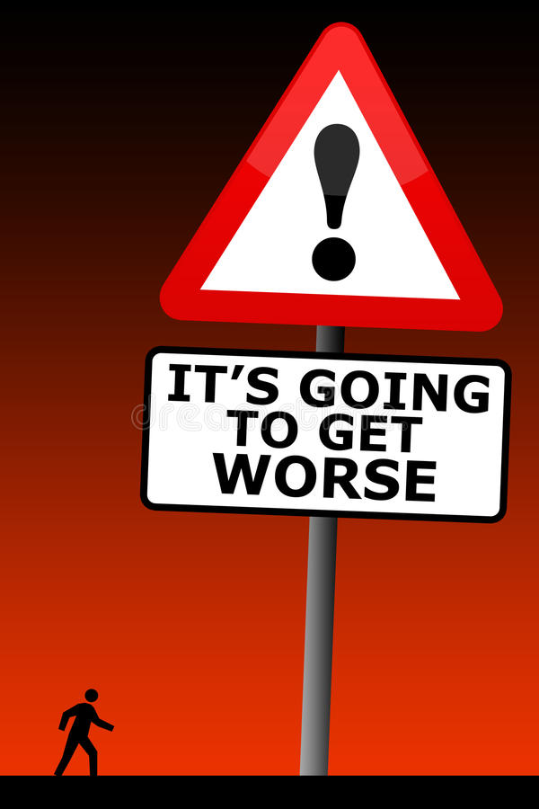 Download Get worse stock illustration. Image of anxious, dangers - 33596312