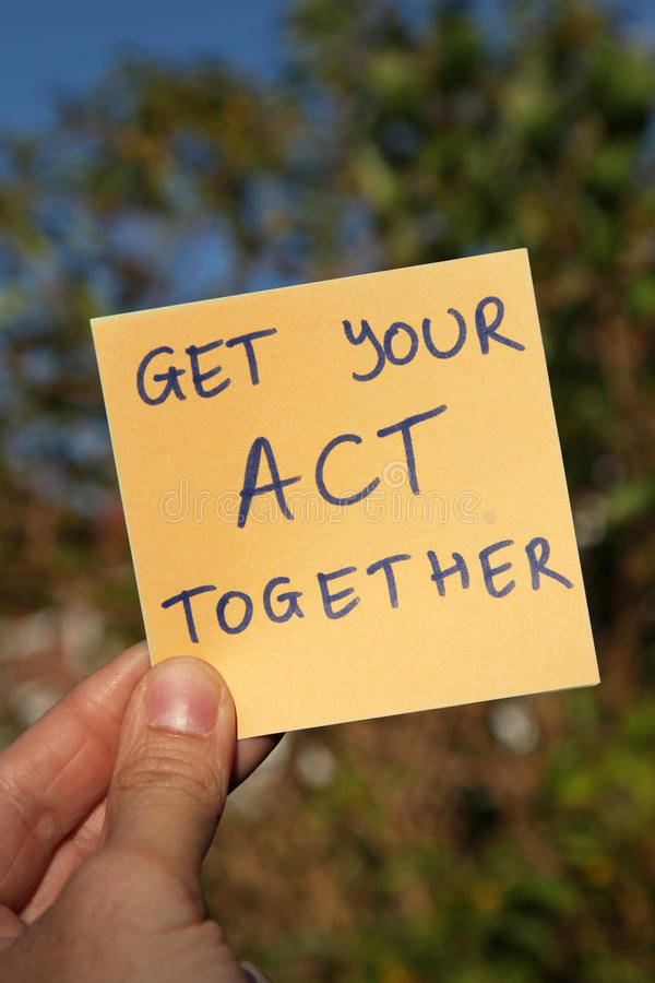 Get your act together stock photo