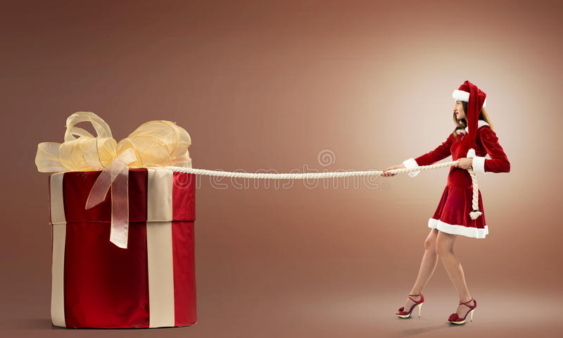 Get your Christmas gift royalty free stock image