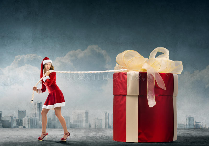 Get your Christmas gift royalty free stock photos