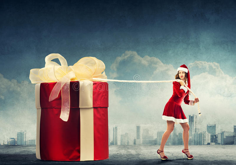 Get your Christmas gift stock images