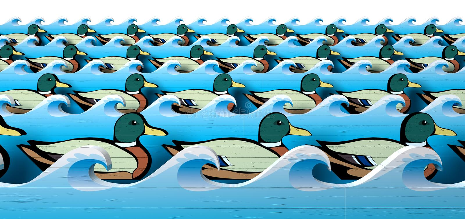 Get Your Ducks In A Row Royalty Free Stock Photo