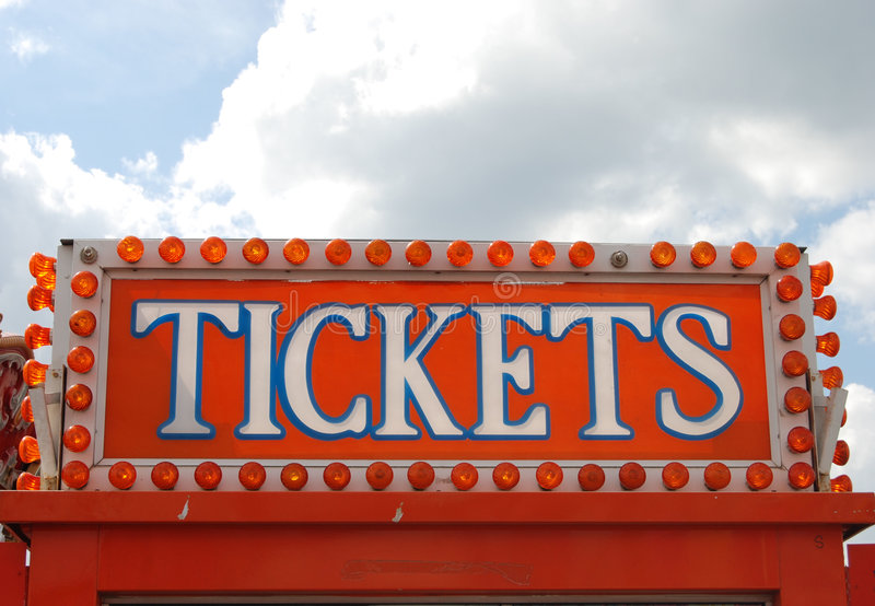 Get your Tickets royalty free stock image
