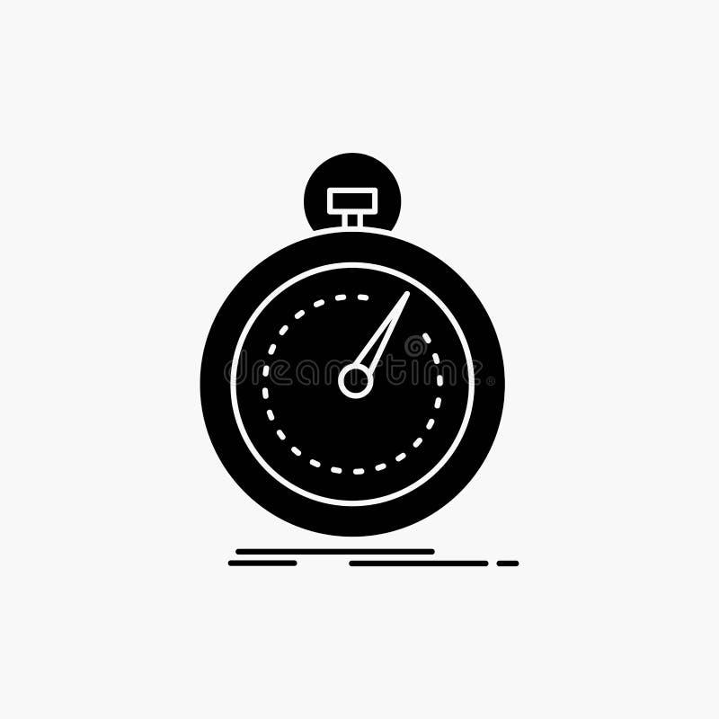 Getan, schnell, Optimierung, Geschwindigkeit, Sport Glyph-Ikone Vektor lokalisierte Illustration lizenzfreie abbildung