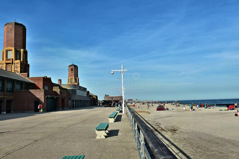 Getaway new york city jacob riis park beach queens royalty free stock images