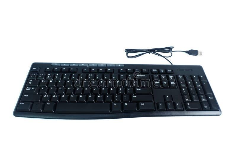 Getelegrafeerd die toetsenbord op witte achtergrond wordt geïsoleerd stock afbeeldingen