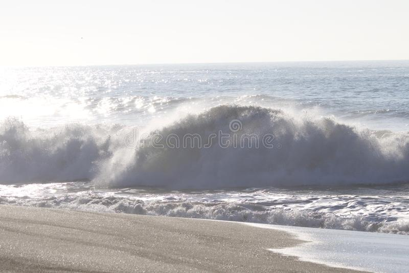 Geten vaggar stranden - nordvästliga Sonoma County, Kalifornien, är munnen av den ryska floden royaltyfri fotografi