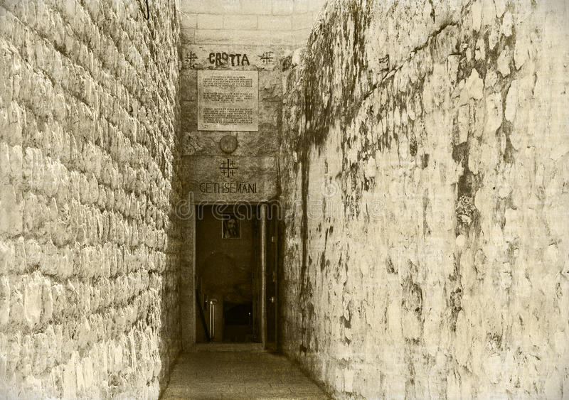 Gethsemani de Grotta, Jerusalén, Israel imagen de archivo