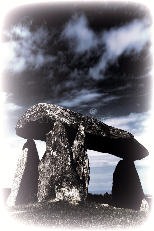 Getontes Bild des Pentre Ifan lizenzfreies stockfoto