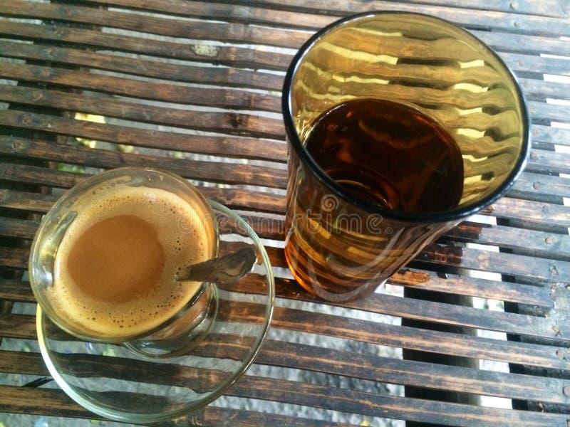 Getränk-Kaffeebraun Morgen stockfotografie