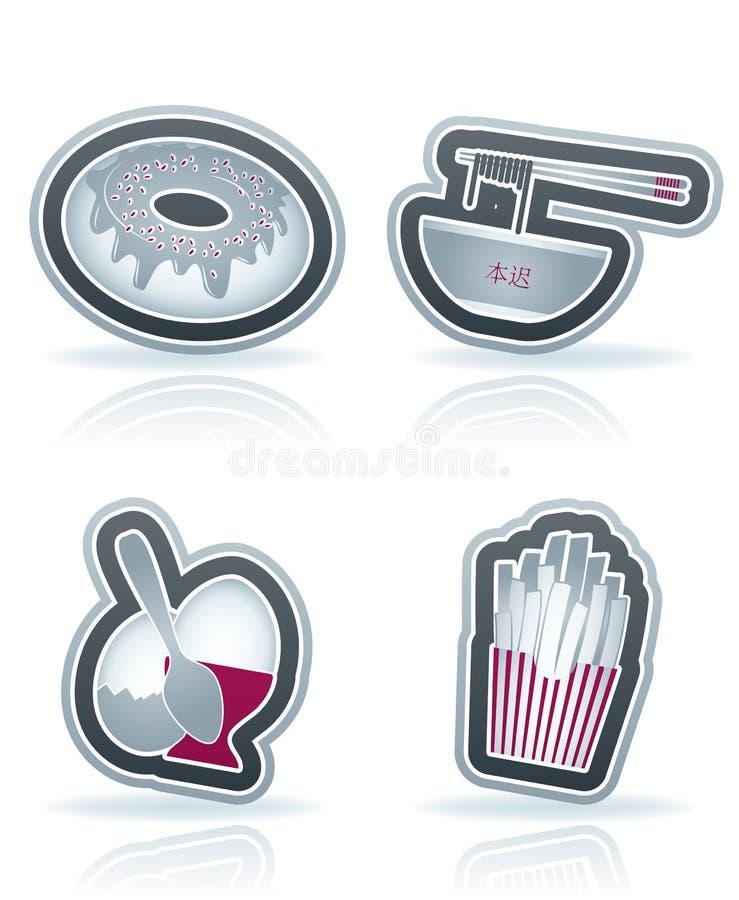 Download Getränk u. Nahrung vektor abbildung. Illustration von süßigkeit - 26354083
