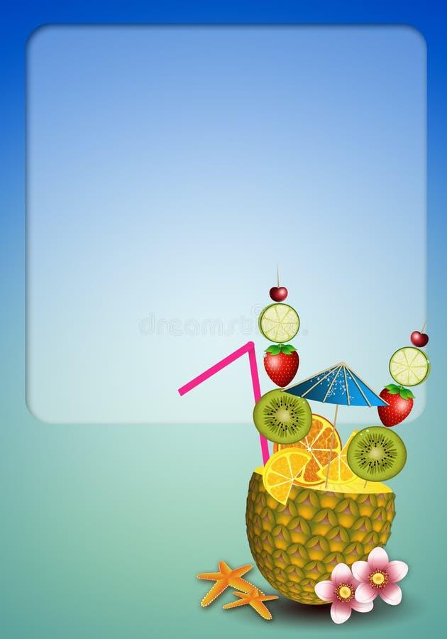 Getränkfrüchte in der Ananas vektor abbildung